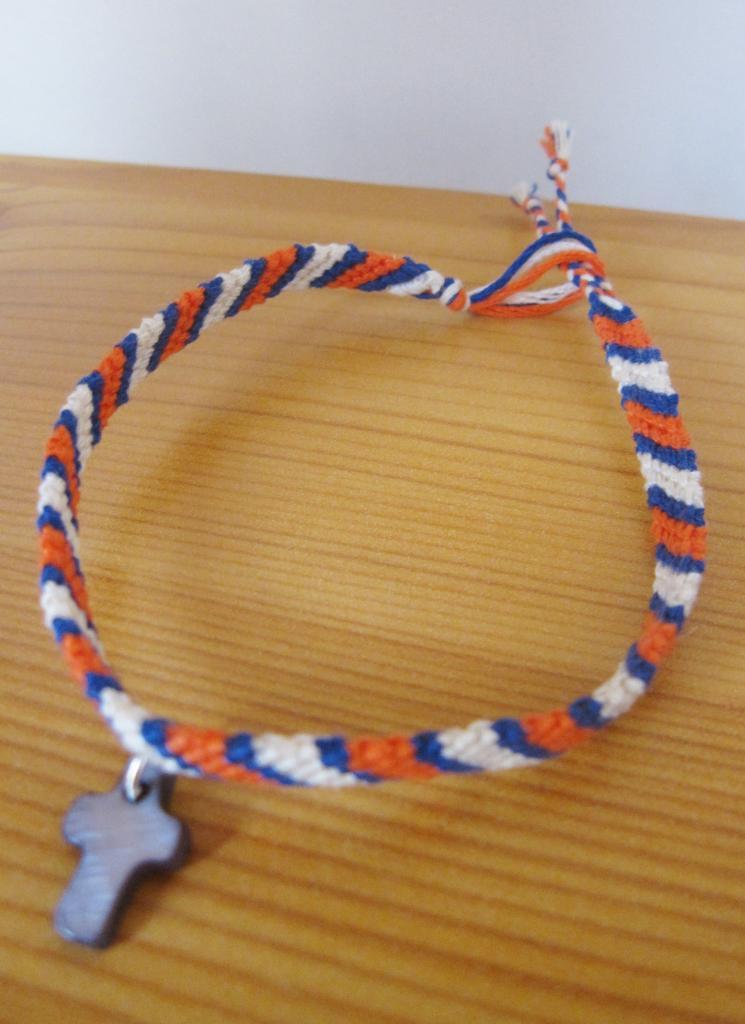"Bracelet samba ""croix grise"""