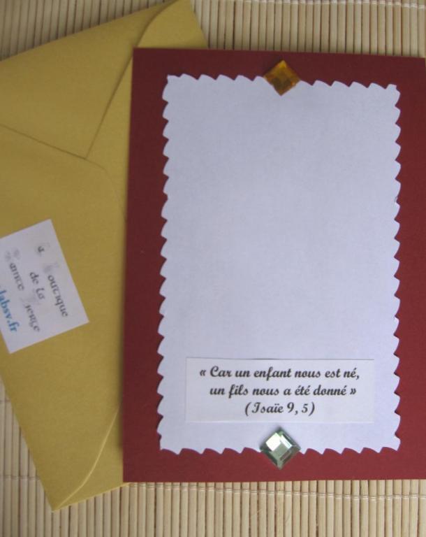 Dos de carte pour homme 1