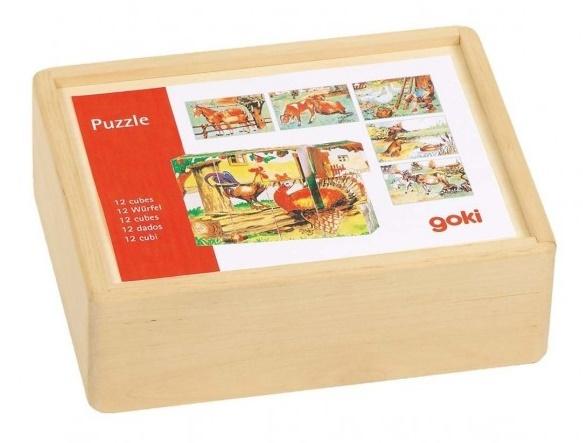 Puzzle cubes en bois