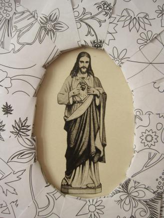 Cadre Jésus Sacré Coeur 2
