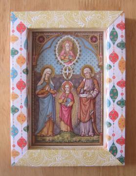 Cadre Sainte Famille bicolore