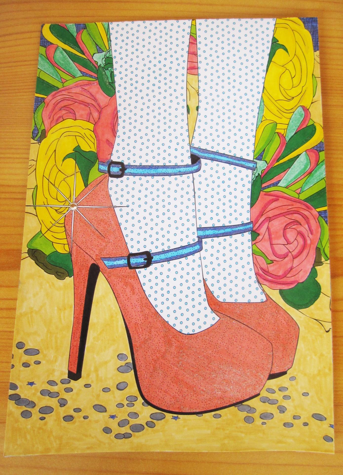 La Carte Chaussures, pailletée et strassée, à personnaliser au dos par un petit mot !