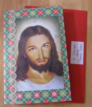 Carte Jésus miséricordieux