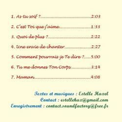 Pochette premier cd verso