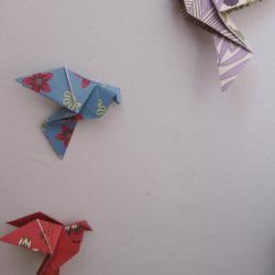 Le Vol de Colombes en Origami