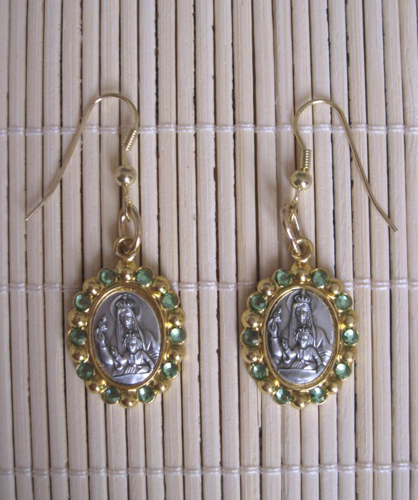 Boucles Marie-Reine strass