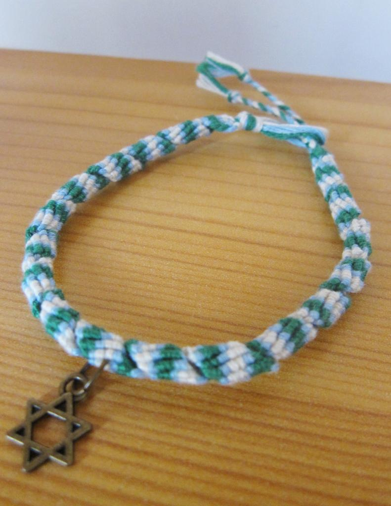 "Bracelet rumba ""étoile de David"" en vert"
