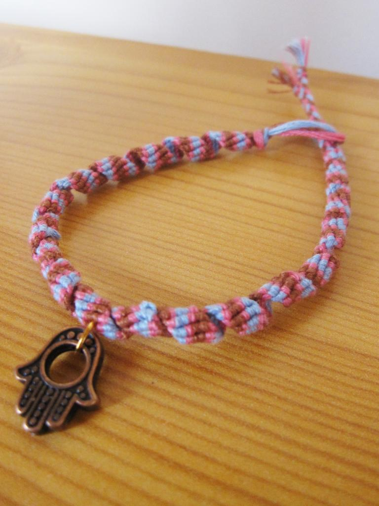 """Bracelet rumba femme """"main de Fatma"""" en rose"""
