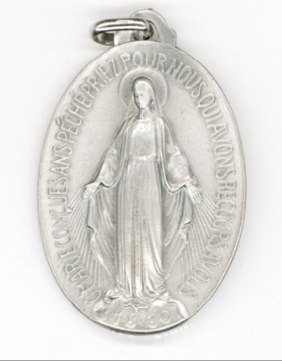 Médaille miraculeuse argentée