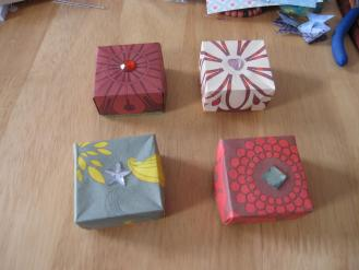 Boites origami fermées