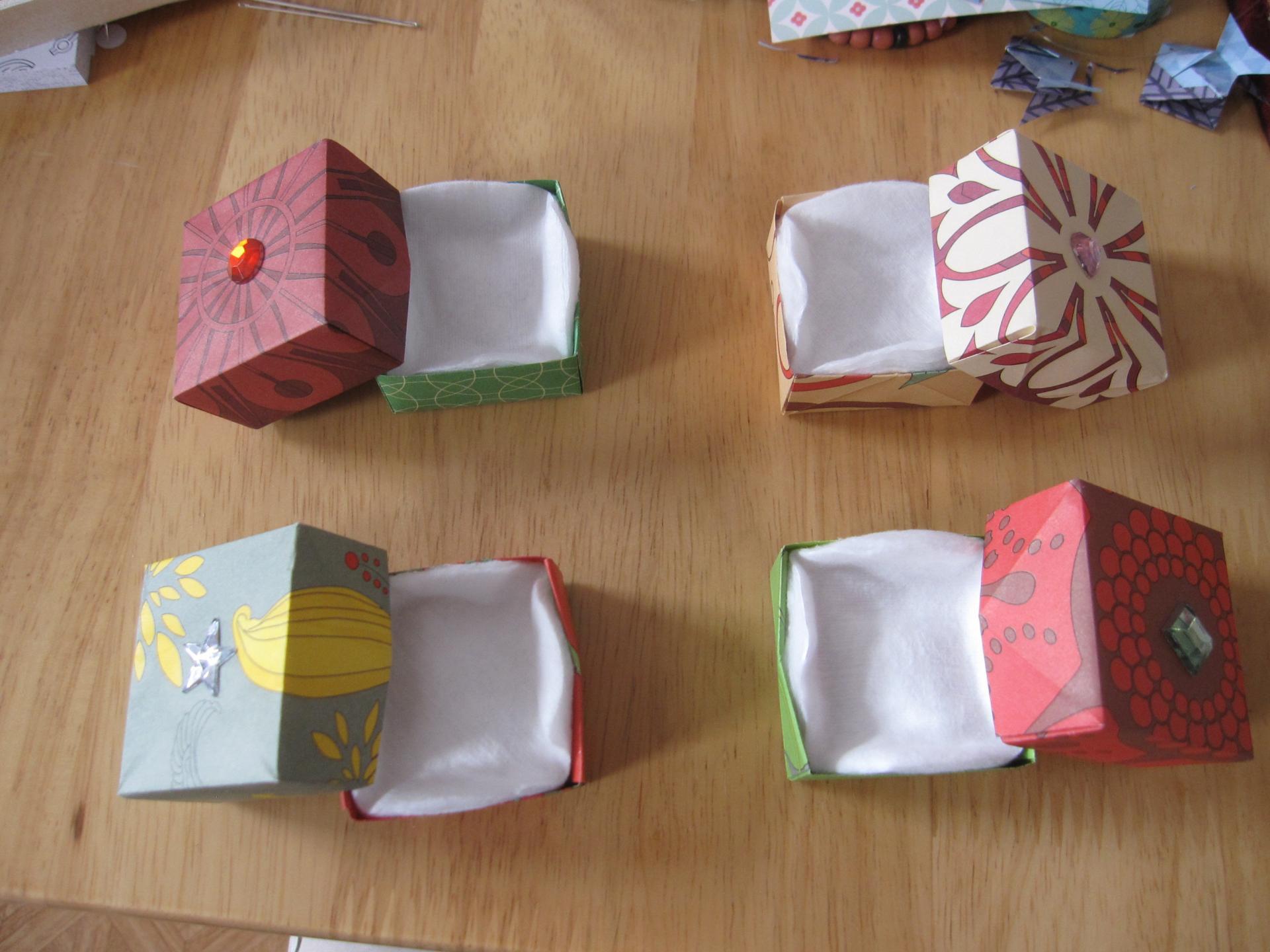 Boites origami ouvertes 1