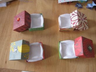 Boites origami ouvertes