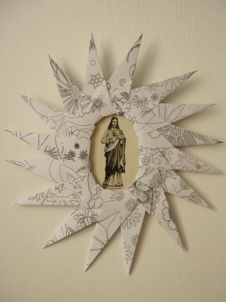 Cadre Jésus Sacré Coeur 1