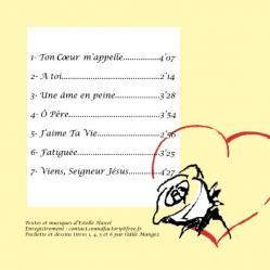 Pochette deuxième cd verso