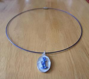 Tour de cou saint christophe bleu
